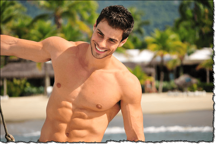 Hombres Sin Camisa Imágenes De Archivo, Vectores,